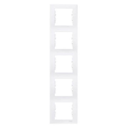 Schneider electric Sedna ramka 5 pięciokrotna pionowa biała sdn5801521 schneider