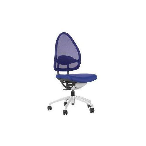 Krzesło obrotowe z podporą lędźwi, mechanizm synchroniczny, siedzisko nieckowe,wys. oparcia 660 mm