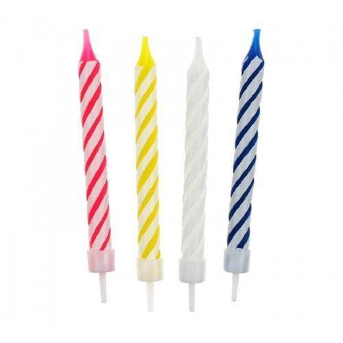 Świeczki urodzinowe 4 kolory, 12 szt. marki Party world