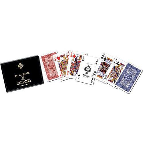 Karty plastikowe STANDARD PIATNIK 2 talie w pudełku, K-2364