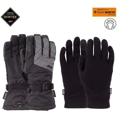 - warner gtx long glove + warm charcoal (ch) rozmiar: l, Pow