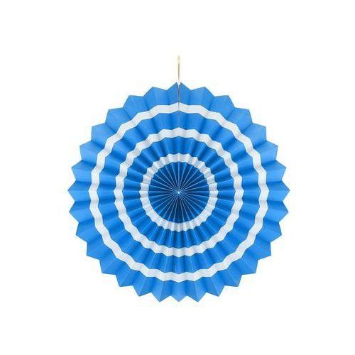 Dekoracja wisząca rozetka niebiesko - biała - 40 cm - 1 szt. (5901238625889)