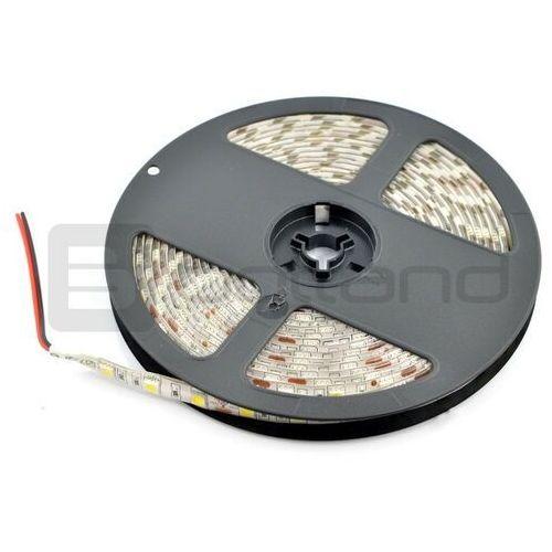Pasek LED SMD5050 IP65 14,4W, 60 diod/m, 10mm, barwa ciepła - 5m, kolor biały