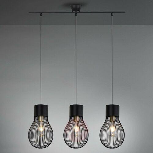 Lampa Wisząca Reality DAVE Czarny, 3-punktowe - Vintage - Obszar wewnętrzny - DAVE - Czas dostawy: od 3-6 dni roboczych, kolor Czarny
