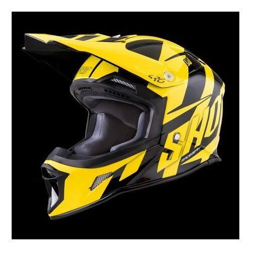 racing żółty fluo/czarny kask crossowy marki Shot