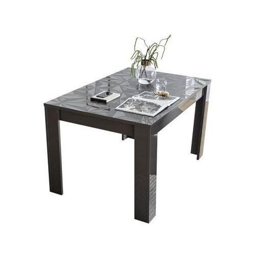 Fato luxmeble Stół rozkładany 137-185 cm prestige szary wysoki połysk