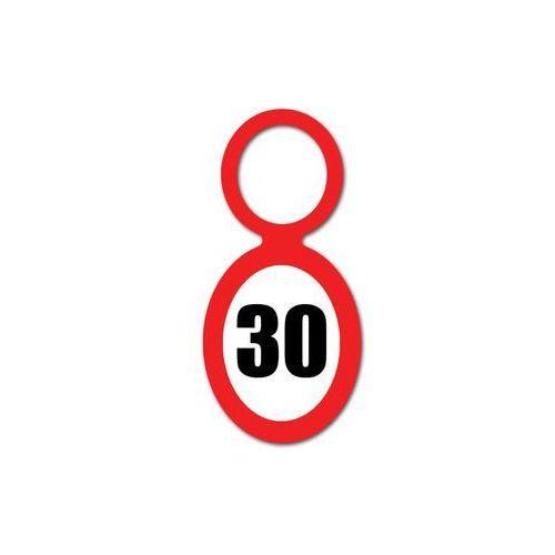 Zawieszki na butelki znak zakazu - 30 - trzydziestka - 20 szt.