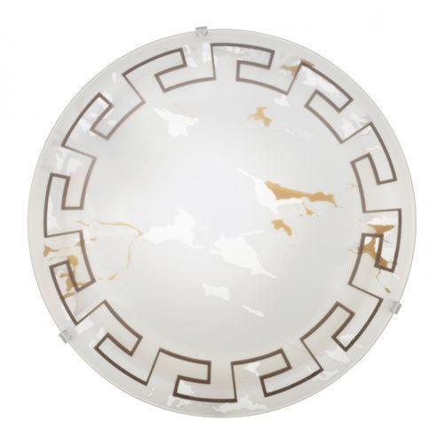 Plafon Eglo Twister 82891 lampa oprawa ścienna sufitowa 1x60W E27 biały/brąz (9002759828912)