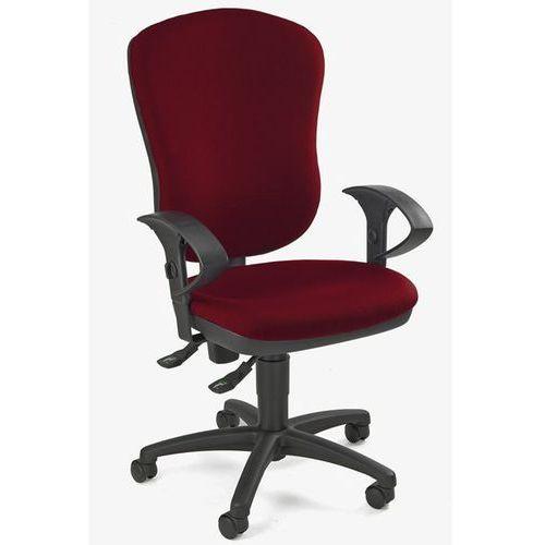 Standardowe krzesło obrotowe, bez poręczy, z podpórką lędźwi, wys. oparcia 600 m marki Topstar