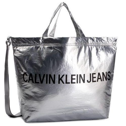 Calvin klein jeans Torebka - wet tyvec ew tote w/embroidery k60k605541 081