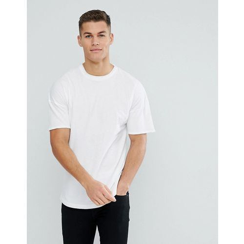 boxy fit t-shirt with dropped shoulder - white, Tom tailor, M-XL