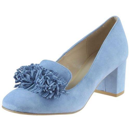 Czółenka Sagan 2867 - Błękitne, kolor niebieski