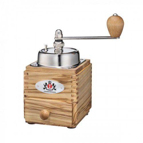 montevideo młynek do kawy z korbką, drewno oliwne i stal marki Zassenhaus