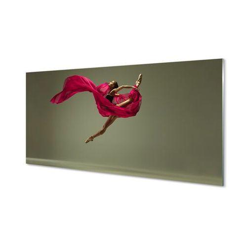 Tulup.pl Obrazy akrylowe kobieta szpagat różowy materiał