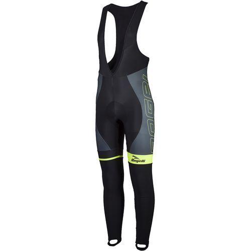 andrano - męskie spodnie rowerowe z wkładką żelową (czarno-żółty) marki Rogelli