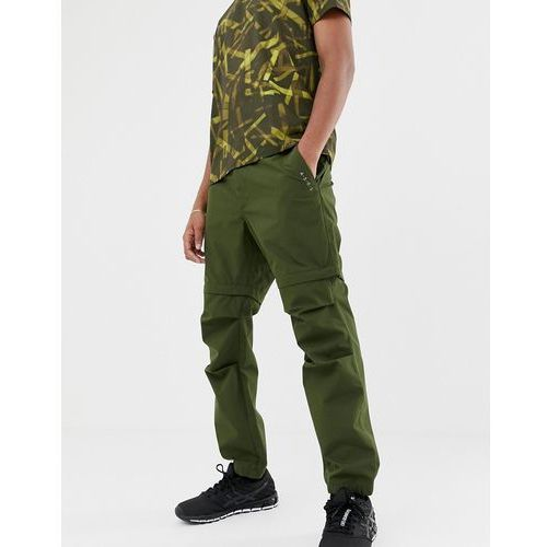 trousers with detachable legs in water resistant fabric - green, Asos 4505