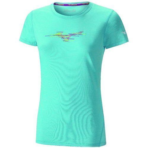 Mizuno koszulka Imp Core Graphic Tee Blue Atoll Mel M