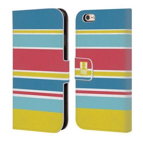 Etui portfel na telefon - Paski Niebieskie i Różowe