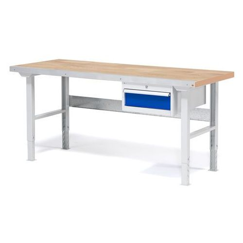 Stół warsztatowy solid, zestaw z 1 szufladą, 500 kg, 1500x800 dąb marki Aj produkty