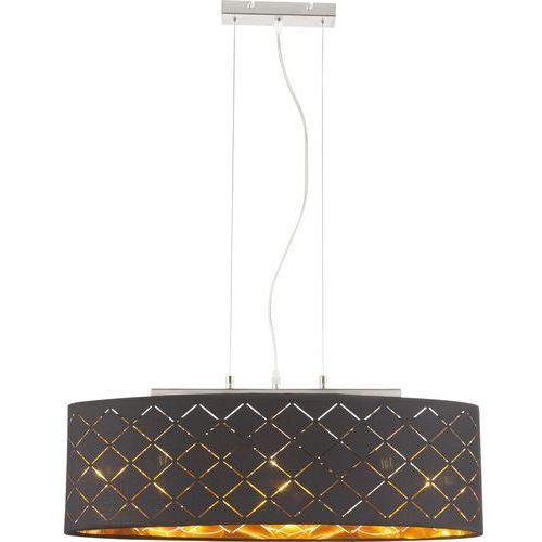 Lampa wisząca clarke 15229h2 lampa sufitowa zwis 3x60w e27 czarna / złota marki Globo