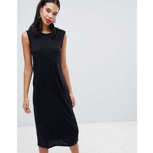 Weekday Sleeveless Column Dress - Black, 1 rozmiar