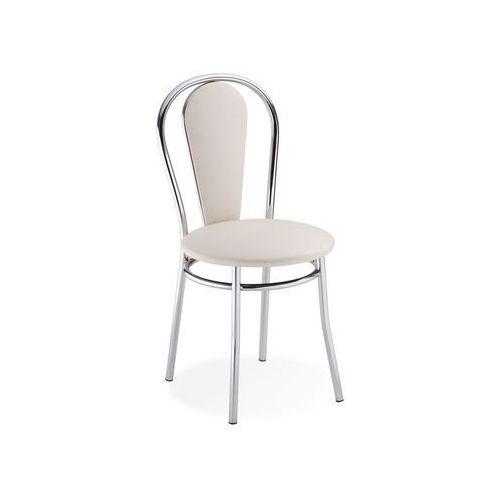 Nowy styl Krzesło tapicerowane kremowe vida (5903038256348)
