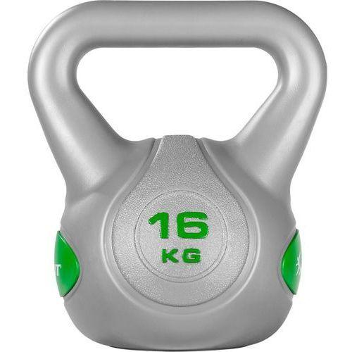 Movit ® Srebrna hantla kompozytowa kula kettlebell ketla 16kg - 16 kg