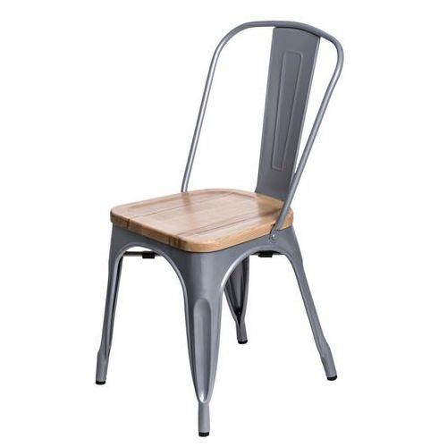 Krzesło Paris Wood sosna naturalna - srebrny, d2-5178