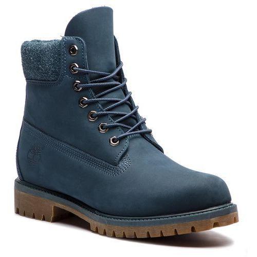 Trapery TIMBERLAND - Premium 6 In Waterproof Boot TB0A1UEU431 Navy Nubuck, kolor niebieski