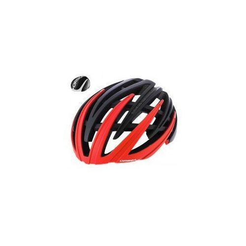 Super kask ORBEA R10 czarno-czerwony COFIDIS z nakładką aero