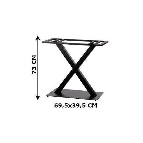 Podstawa stolika podwójna SH-3007-2/B, (stelaż stolika), kolor czarny (5903917403047)
