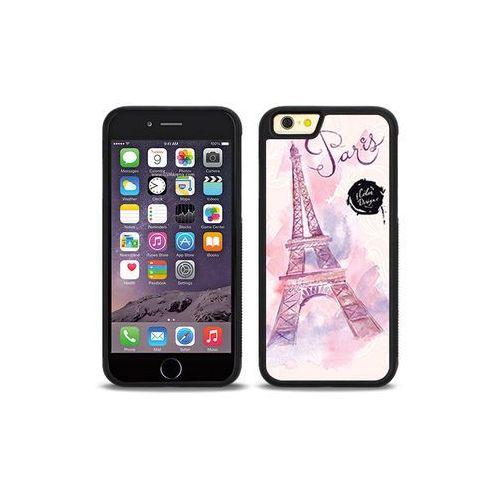 Apple iPhone 6s - etui na telefon Aluminum Fantastic - różowa wieża eiffla