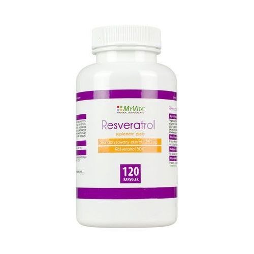 Resveratrol standaryzowany resweratrol ekstrakt 250mg 120 tabletek MyVita (5906395684755)