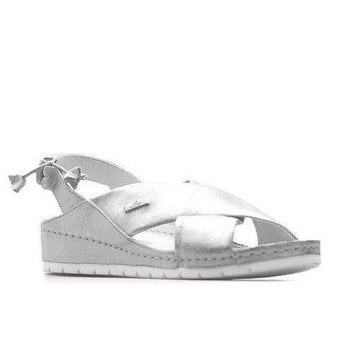 Sandały Lemar 50056 Srebrne przecierane