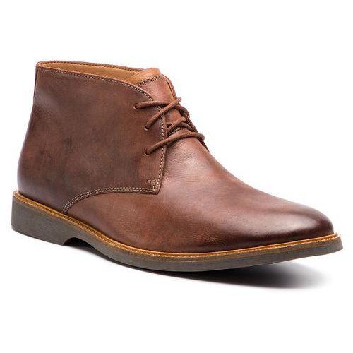 Trzewiki - atticus limit 261367397 mahogany leather, Clarks, 40-47