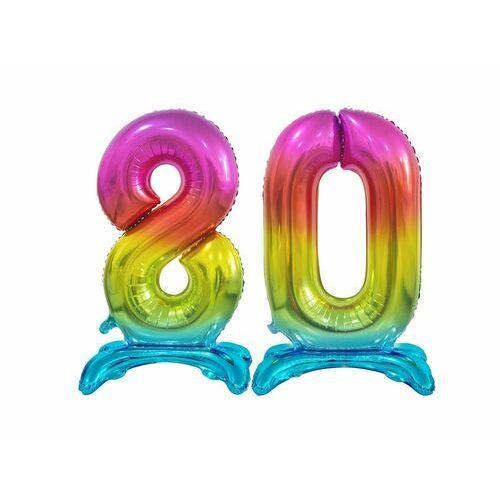 Zestaw balonów foliowych 80 tęczowa - 74 cm