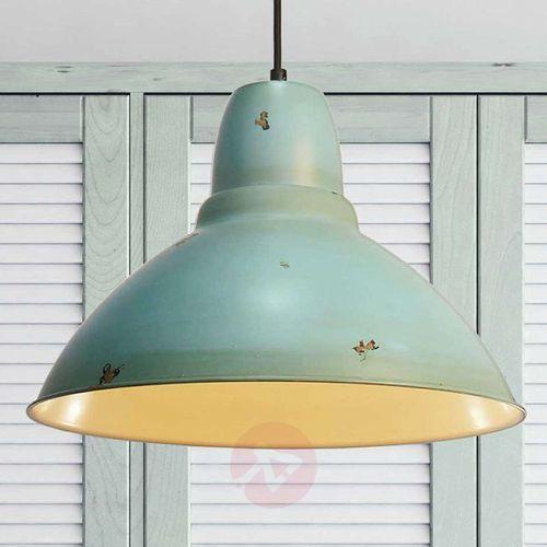 Wzornictwo vintage – lampa wisząca Levi turkusowa (5201769070265)