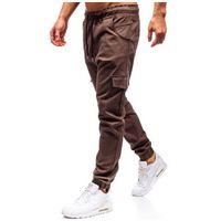 Spodnie joggery bojówki męskie brązowe 0404 marki Bolf