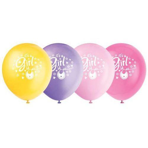 Balony pastelowe na Baby Shower - 31 cm - 8 szt.