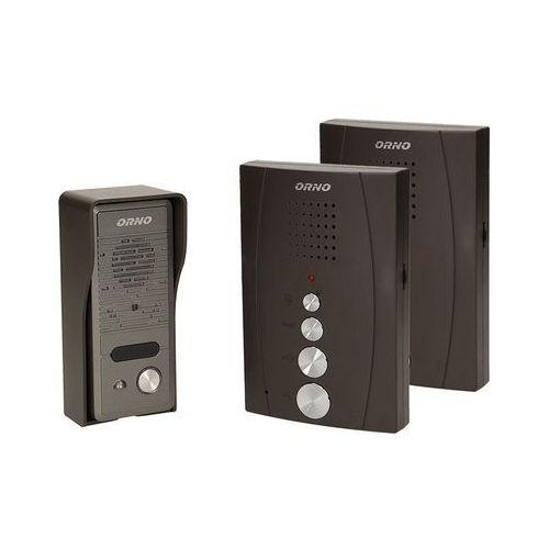 Zestaw domofonowy jednorodzinny z interkomem bezsłuchawkowy czarny ELUVIO INTERCOM OR-DOM-RE-920/B Orno