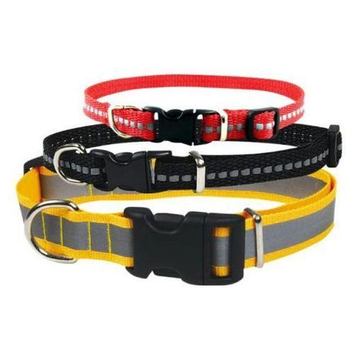 Chaba obroża odblaskowa regulowana dla psa 20mm/46cm wybór kolorów