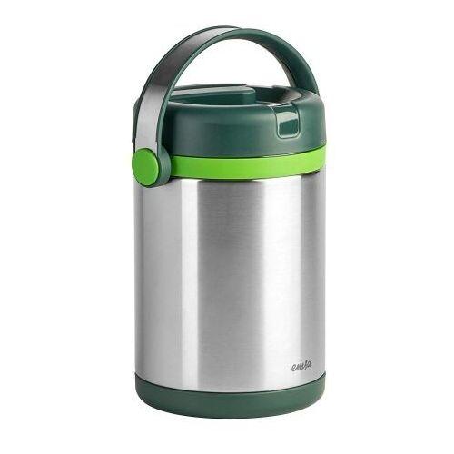 Emsa Mobility termos obiadowy 1,7l dwukomorow srebrno - zielony