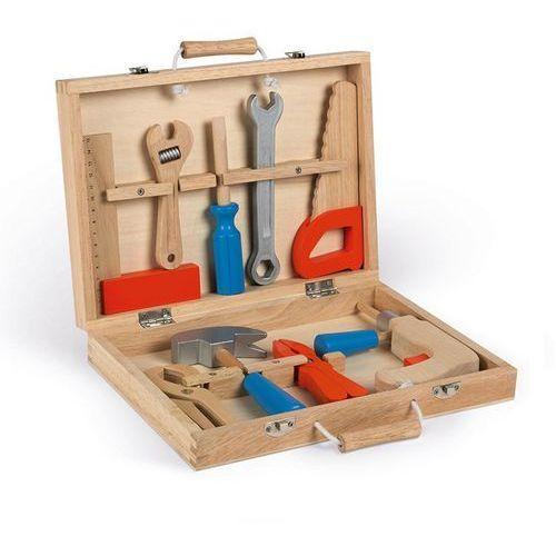 Drewniana walizeczka z narzędziami bricolo niebieska j06481 marki Janod