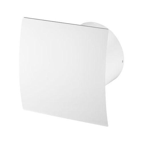 Cichy wentylator łazienkowy silent + wymienne panele czołowe różne funkcje: higro,timer model: timer + higrostat, średnica: 100 mm, panel frontowy: biały escudo marki Awenta