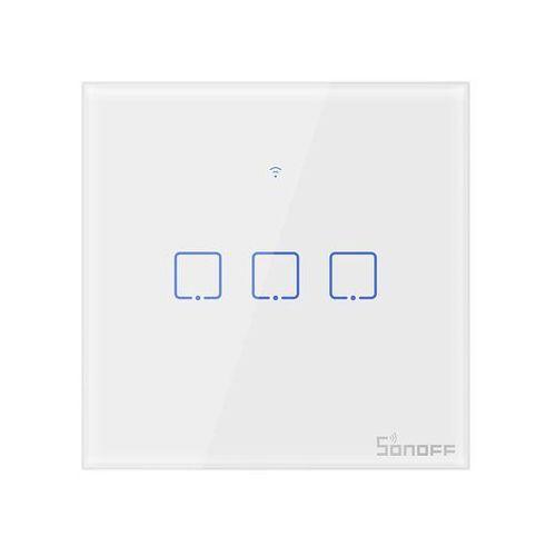 Dotykowy włącznik światła WiFi 3-kanałowy biały Sonoff T0EU3C-TX