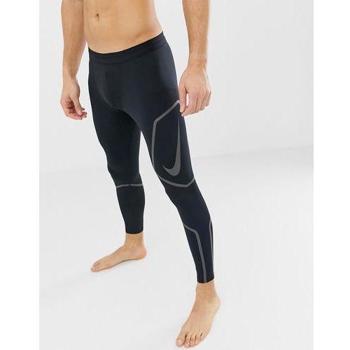 tech reflective tights in black ah7943-010 - black, Nike running, S-XL