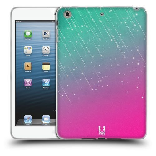 Etui silikonowe na tablet - Neon Rain Ombre AQUA PINK