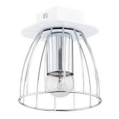 Lemir reda o2681 p1 bia plafon lampa sufitowa 1x60w e27 biały mat / chrom