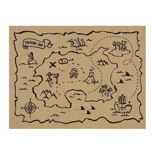 "Partydeco ""podkładki papierowe piraci, 40x30cm (1 karton / 20 op.) (1 op. / 30 szt. / 5 mop.)"""