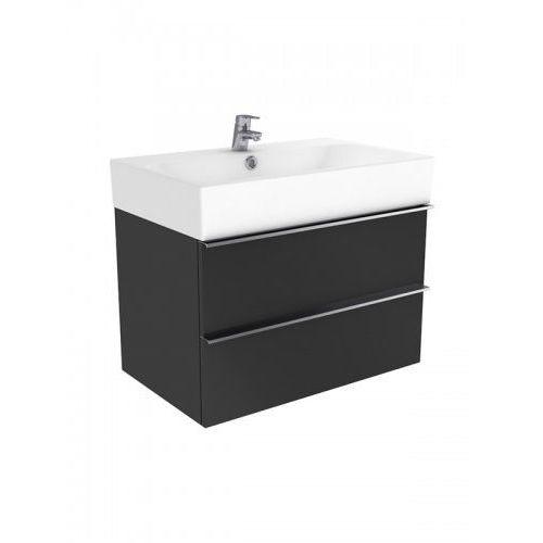 New trendy kubiko szafka wisząca + umywalka antracyt połysk 75 cm ml-pi175
